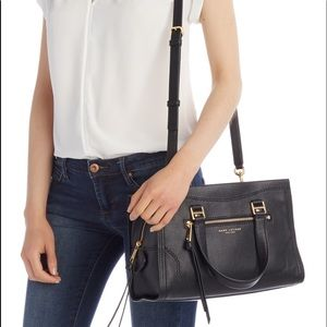 NWT Marc Jacobs Cruiser Leather Satchel Bag -black